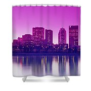 Red River And Downtown Winnipeg Shower Curtain