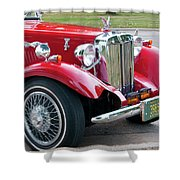 Red Roadster Shower Curtain