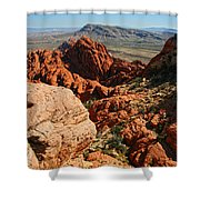 Red Rock Canyon At The Tank Shower Curtain