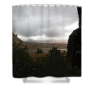 Red Rock Canyon View Shower Curtain