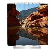 Red Rock Canyon Water Shower Curtain