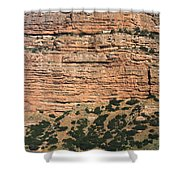 Red Rock Cliffs Along The Hood River Shower Curtain