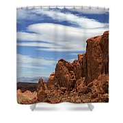 Red Rock Cliffs Valley Of Fire Nevada Shower Curtain