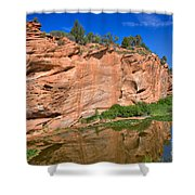 Red Rock Formation In The Kaibab Plateau In Grand Canyon National Park Shower Curtain