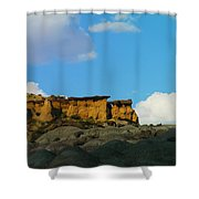 Red Rock In New Mexico Shower Curtain