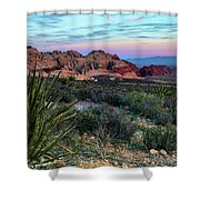 Red Rock Sunset II Shower Curtain