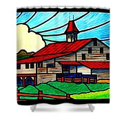Red Roof Barn On Osceola Springs Road Shower Curtain