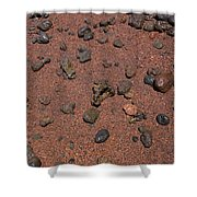 Red Sand And Rocks Shower Curtain