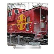 Red Sante Fe Caboose Train . 7d10325 Shower Curtain