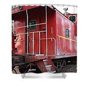 Red Sante Fe Caboose Train . 7d10330 Shower Curtain