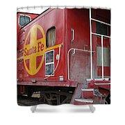 Red Sante Fe Caboose Train . 7d10334 Shower Curtain