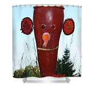 Red Scarecrow Shower Curtain