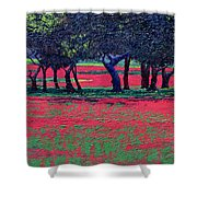 Red Shock Shower Curtain