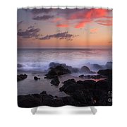 Red Sky Paradise Shower Curtain