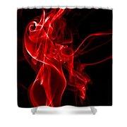Red Smoke Shower Curtain