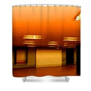 Red Subway Shower Curtain