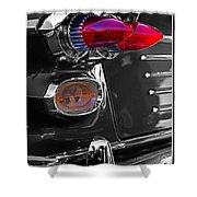 Red Tail Lights Shower Curtain