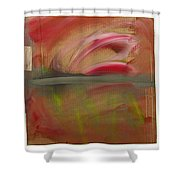 Red Tide White Shower Curtain