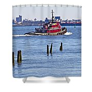 Red Tug One Shower Curtain