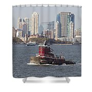 Red Tug Two Shower Curtain