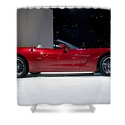 Red Vette Shower Curtain