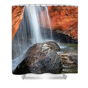 Red Waterfall Shower Curtain