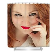 Red White And Blue II Shower Curtain