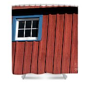 Red White And Blue Window Shower Curtain