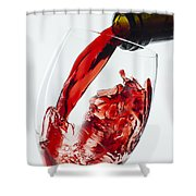 Red Wine Pour Shower Curtain