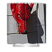 Red Wolf Mask Shower Curtain