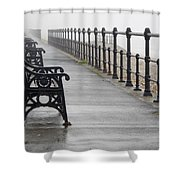 Redcar, North Yorkshire, England Row Of Shower Curtain