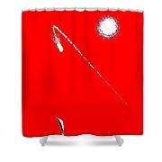 Redcomet Shower Curtain