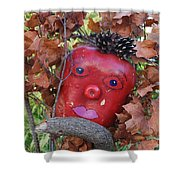 Redhead Scarecrow Shower Curtain