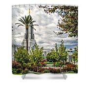 Redlands Temple Palm Shower Curtain
