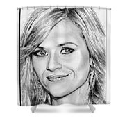 Reese Witherspoon In 2010 Shower Curtain
