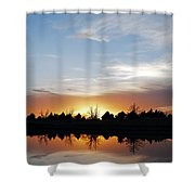 Reflected Sky Shower Curtain