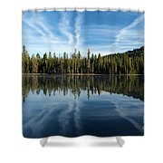Reflecting Blue Shower Curtain