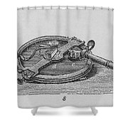 Reflecting Circle Shower Curtain