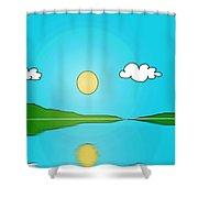 Reflection 3 Shower Curtain