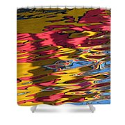 Reflection Abstraction Shower Curtain