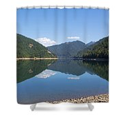 Reflection At The Reservoir Shower Curtain