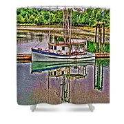 Reflection Hdr Shower Curtain