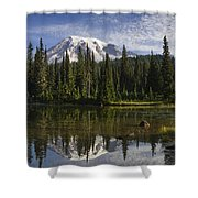 Reflection Lake And Mount Rainier Shower Curtain