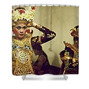 Reflection Of A Kecak Dancer Shower Curtain