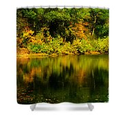 Reflection Of Autumn Colors Shower Curtain