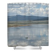 Reflection Of Clouds On Eagle Nest Lake Shower Curtain