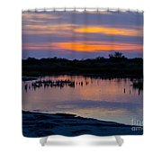 Reflection Of The Sunset Shower Curtain