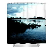 Reflection Time Shower Curtain