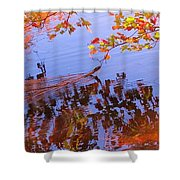 Reflections And Currents Shower Curtain