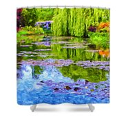 Reflections At Giverny Shower Curtain